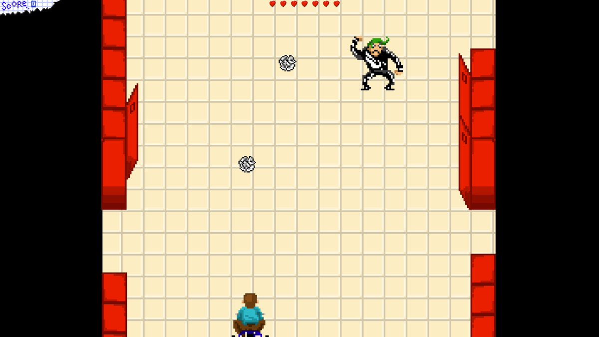 LifeCycle's first level showing the player on his tricycle down the hallway of the school
