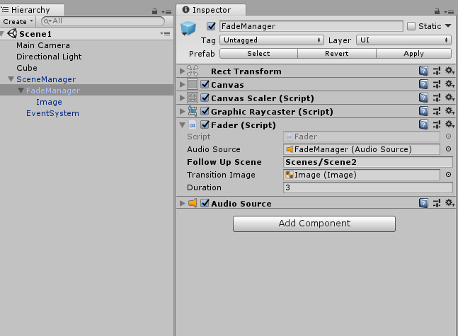 Fader Script with input values in Unity Editor